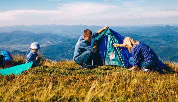 How to choose tents with AC opening: